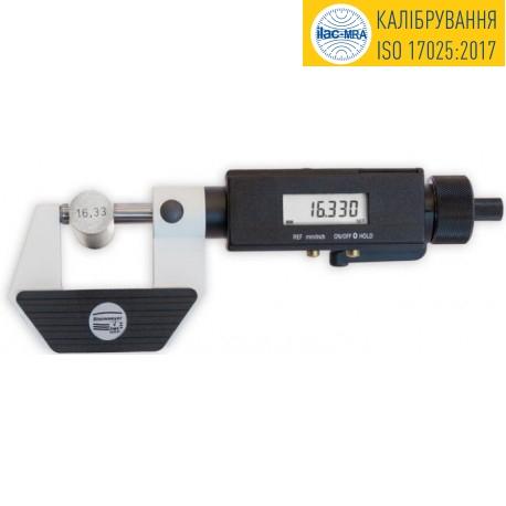 Мікрометр - скоба з неповоротним шпинделем 0-25 мм