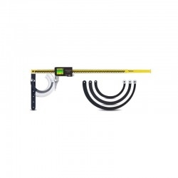Curved gauge set for tube wall thickness measuring digital