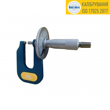 Micrometer for sheet materials 0-15mm