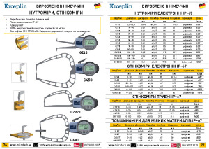 Digital internal caliper IP67